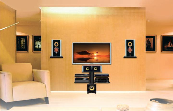 Полки под телевизор своими руками на стену
